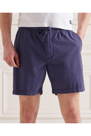 Superdry Heren Shorts - Seersucker short met trekkoord