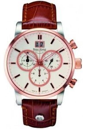 Soehnle Bruno Söhnle 17-53084-241 Chronograaf kwartshorloge voor heren, met leren armband