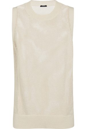 Joseph Dames Gilets - Crispy cotton sweater vest
