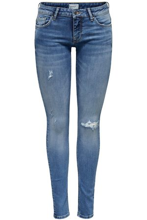 Only Onlcoral Superlow Skinny Fit Jeans Dames Blauw
