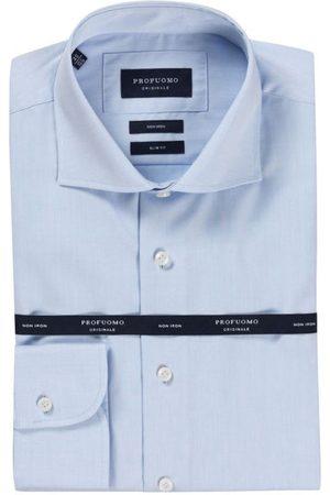 Profuomo Heren overhemd cutaway sf sc blue