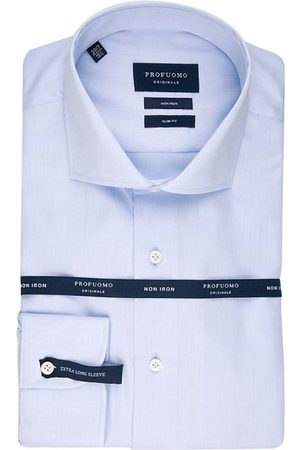 Profuomo Heren overhemd cutaway sf sc blue xls
