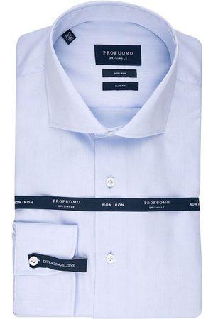 Profuomo Heren Overhemden - Heren overhemd cutaway sf sc blue xls