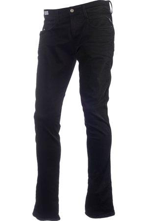 Replay Heren Straight - Heren jeans hyperflex black stretch denim m914-661
