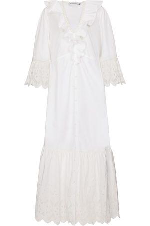 Self-Portrait Cotton broderie anglaise dress