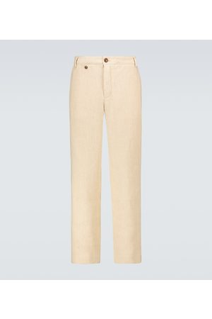 King and Tuckfield Linen and cotton chino pants