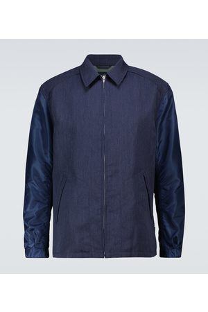COMME DES GARÇONS HOMME Wool jacket with technical sleeves