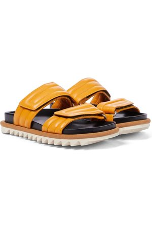 DRIES VAN NOTEN Leather slides