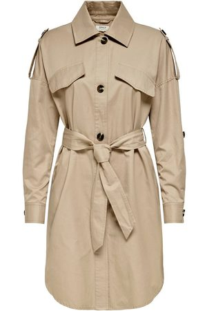 ONLY Dames Trenchcoats - Solid Colored Trenchcoat Dames Beige