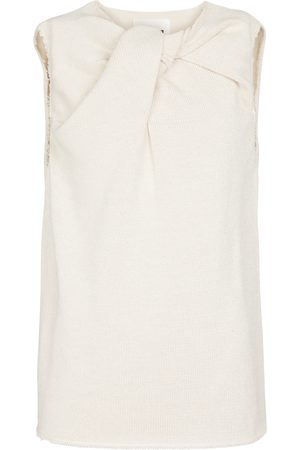 Jil Sander Knotted cotton-blend top