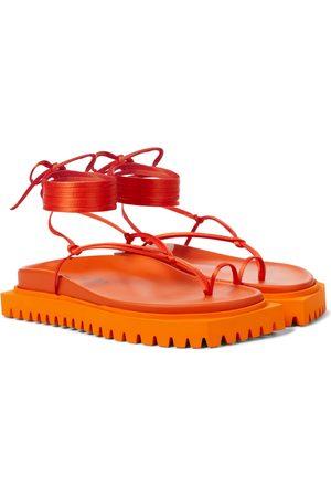 The Attico Renee satin thong sandals