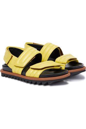 DRIES VAN NOTEN Leather slides