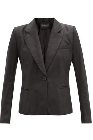 ANN DEMEULEMEESTER Angelina Single-breasted Leather Jacket - Womens - Black