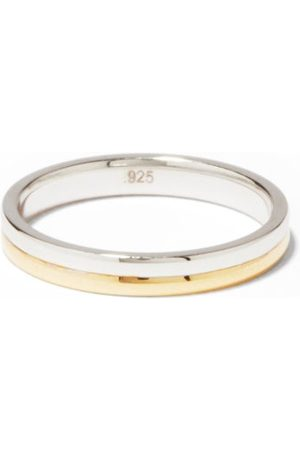 MIANSAI Heren Ringen - Duo Sterling-silver & 14kt Gold-vermeil Ring - Mens - Silver Gold