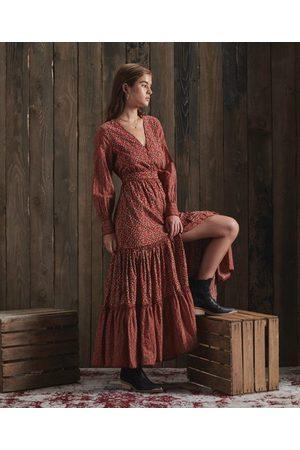 Superdry Dames Geprinte jurken - DRY Limited Edition Dry maxi-jurk met print