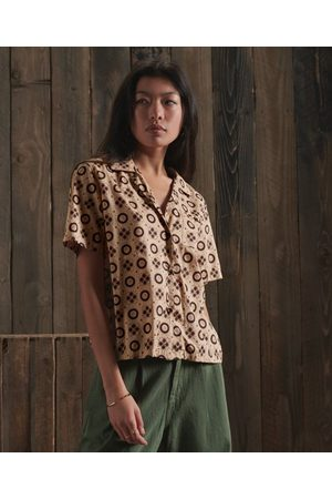 Superdry Dames Blouses - DRY Limited Edition Dry Block Print overhemd