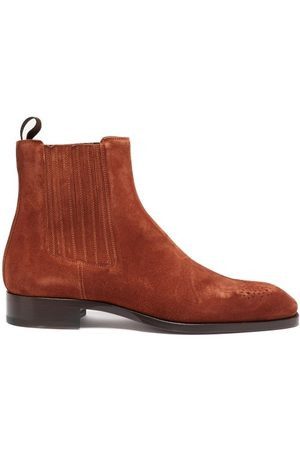 Christian Louboutin Heren Enkellaarzen - Angloman Leather Chelsea Boots - Mens - Brown