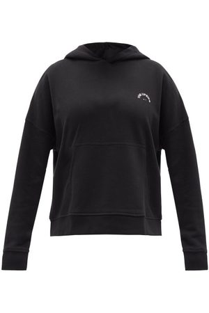 The Upside Logo-embroidered Organic-cotton Hooded Sweatshirt - Womens - Black