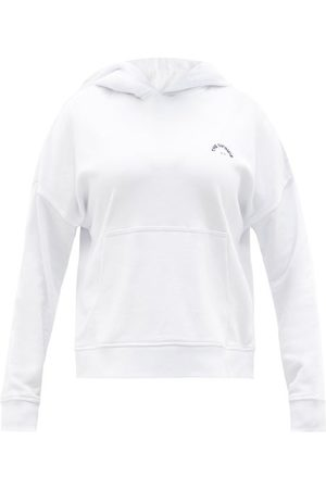 The Upside Dames Sweaters - Logo-embroidered Organic-cotton Hooded Sweatshirt - Womens - White