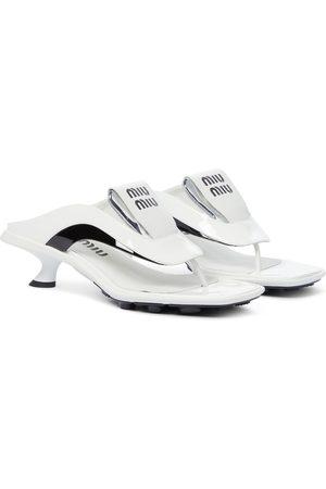 Miu Miu Leather thong sandals