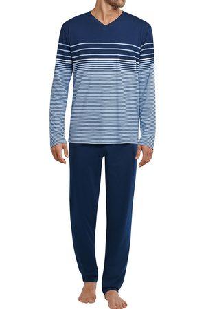 Schiesser Heren Pyjama's - Heren pyjama V-hals met streep
