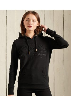 Superdry Dames Truien - Geborduurde Infill Loopback hoodie met vintage logo