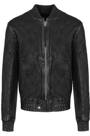 Tigha Heren Leren jassen - Heren Leren jas Fudo zwart (black)