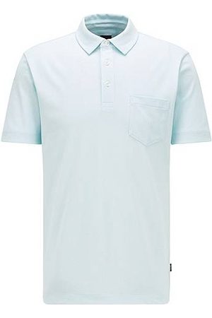 HUGO BOSS Heren Poloshirts - Regular-fit polo van katoen met meshstructuur