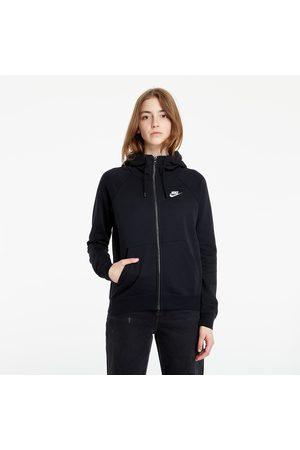 Nike Dames Sweaters - Sportswear W Essential Full-Zip Fleece Hoodie Black/ White