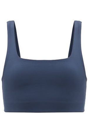 Girlfriend Collective Dames Sport bh's - Tommy Square-neck Medium-impact Sports Bra - Womens - Navy
