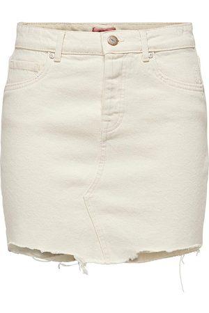 ONLY Dames Spijkerrokken - Rok Jeans 15196686 ECRU