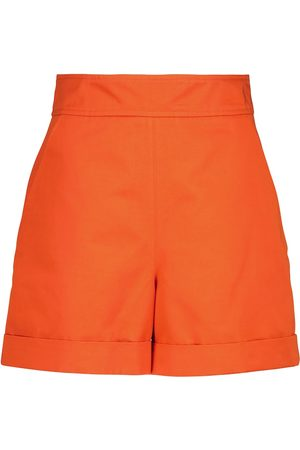 Marni Dames Shorts - High-rise cotton and linen shorts
