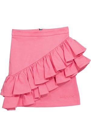Balmain Dames Korte & Mini rokken - Ruffled cotton miniskirt