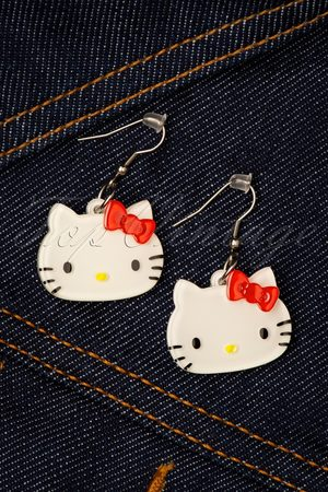Erstwilder TopVintage exclusive ~ Hello Kitty Earrings