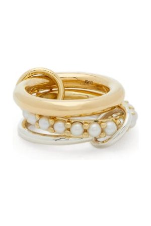 SPINELLI KILCOLLIN Dames Ringen - Akoya Pearl, 18kt Gold & Sterling Silver Ring - Womens - Pearl