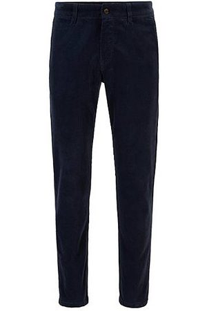 HUGO BOSS Tapered-fit broek in corduroy van stretchkatoen