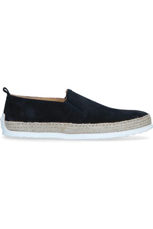 Manfield Donkerblauwe suède loafers