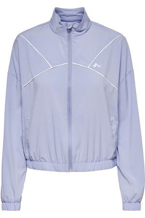 ONLY Solid Colored Training Jacket Dames Paars