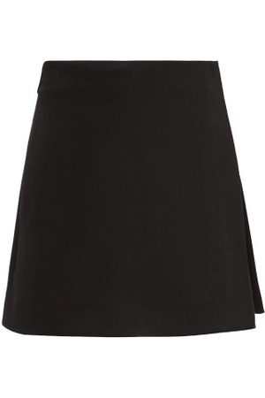 VALENTINO Dames Korte & Mini rokken - Crepe Couture Wool-blend Mini Skort - Womens - Black