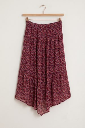 Sissy-Boy Paarse maxi skirt met all over bloemenprint