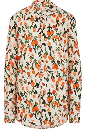 Marni Floral cotton poplin shirt