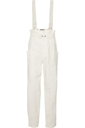 Isabel Marant Ekla linen and cotton suspender pants
