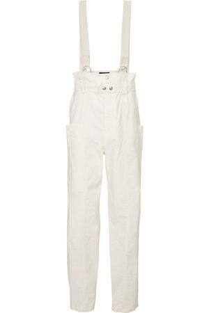 Isabel Marant Ekla linen and cotton suspender pants