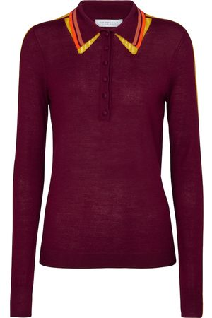 GABRIELA HEARST Dames Lange mouw - Manuel cashmere and silk polo shirt