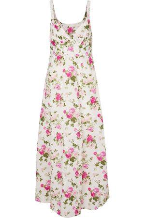 LOVESHACKFANCY Sabina floral cotton midi dress
