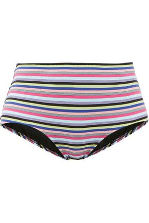 Solid The Pomano High-rise Striped Bikini Briefs - Womens - Multi