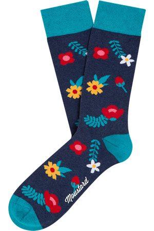 Moustard Sokken & Kousen - Blue blossom