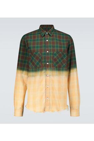AMIRI Bleached flannel shirt
