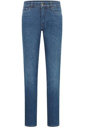 HUGO BOSS Heren Jeans - Regular-fit jeans van licht Italiaans stretchdenim
