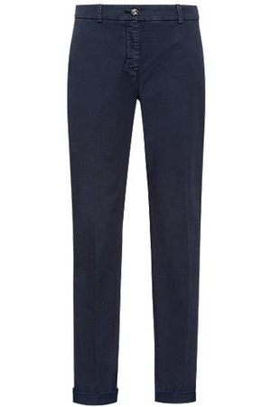 HUGO BOSS Dames Chino's - Regular-fit chino van biologische katoen met stretch